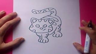 Como dibujar un gato paso a paso 7 | How to draw a cat 7