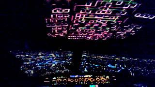 ATERRAGEM AEROPORTO DE LISBOA Cockpit Airbus A 320 da Sata