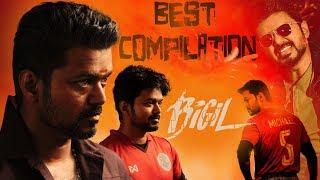 Bigil   Tamil Movie   Super Stunts Compilation   Vijay   Nayanthara   (English Subtitles)