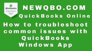 QuickBooks Online How to troubleshoot common issues with QuickBooks Windows App
