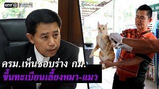 ครม.เห็นชอบร่าง กม.ขึ้นทะเบียนเลี้ยงหมา-แมว | ข่าวช่องวัน | one31