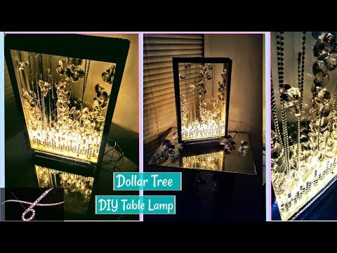 DIY Table Lamp – Dollar Tree Items – Glam