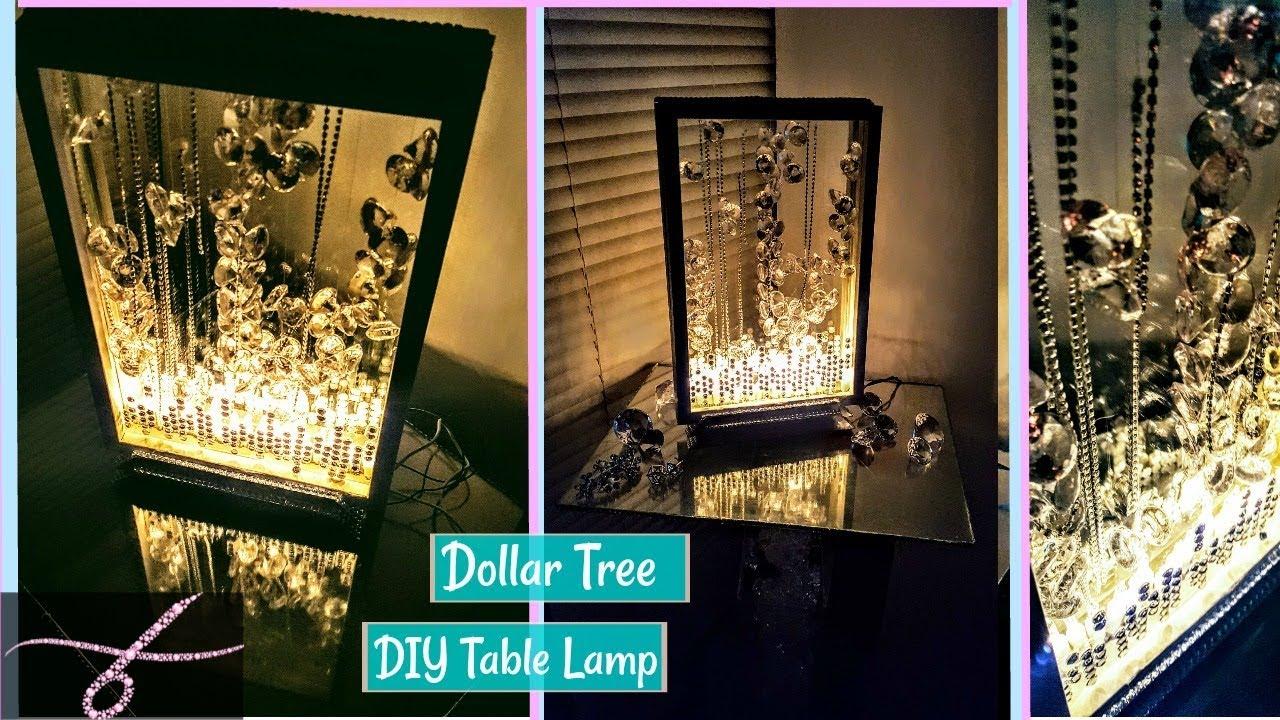Diy Table Lamp Dollar Tree Items Glam Youtube