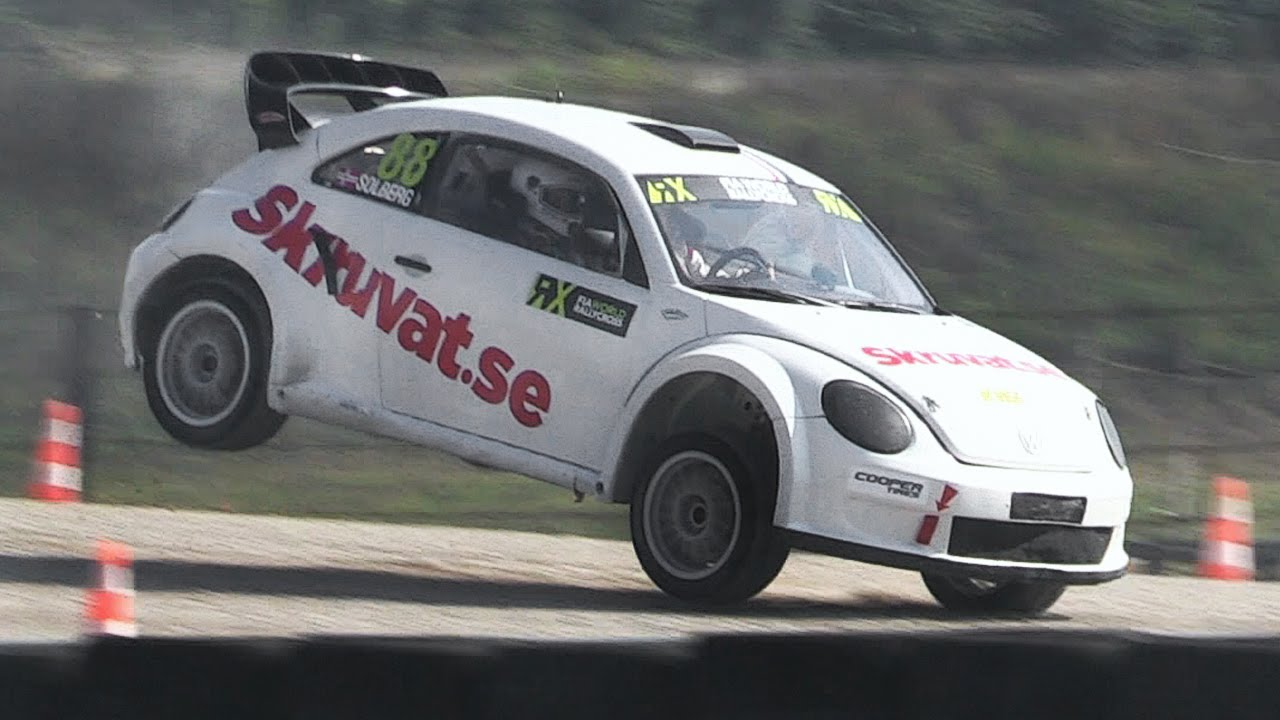 Volkswagen New Beetle Rallycross Supercar Start Up Anti Lag