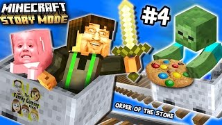 Lets Play Minecraft Story Mode #4: Nether Pushing Ghastbusters (Episode One: The Order of the Stone) thumbnail
