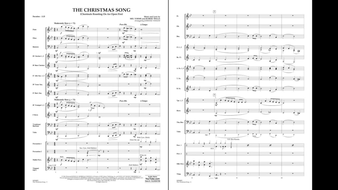 The Christmas Song (Chestnuts Roasting on an Open Fire) arr. Johnnie ...