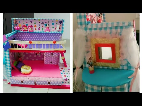 DIY :  💝 Doll bunk bed 😍💕💖💓