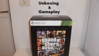 (Unboxing & Gameplay) Grand Theft Auto V (GTA 5) Edition Collector sur Xbox 360