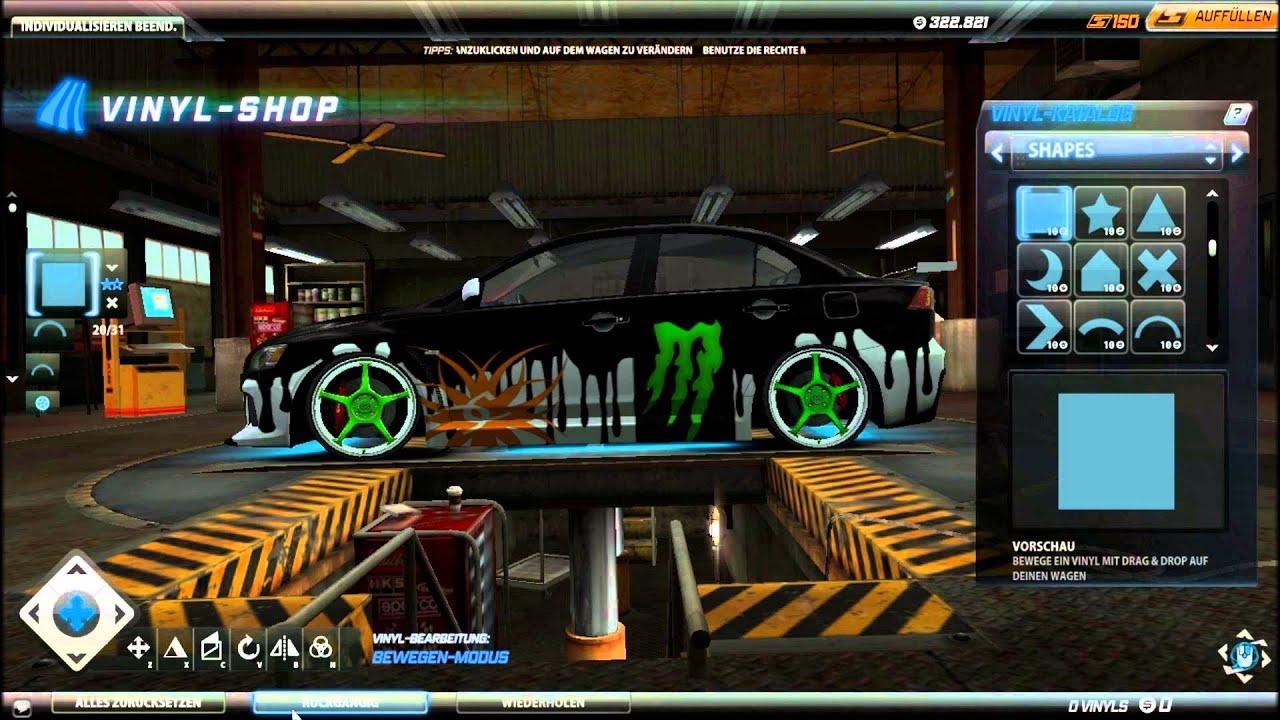 Need For Speed World Mitsubishi Lancer Evo X Ken Block Tuning  [German/English] [HD]