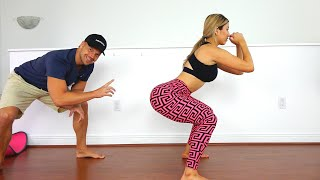 Home Butt, Legs, and Abs Workout Challenge with Trainer