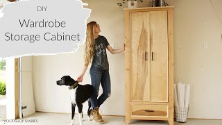 How to Build a Warḋrobe Armoire Cabinet--{Using 2x4s and Plywood!}