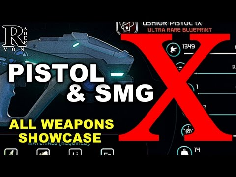 Mass Effect Andromeda - All Pistol X And SMG X Guide With Showcase (Research Weapon)