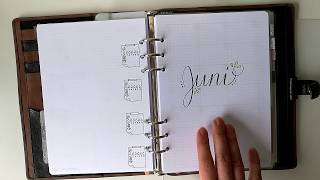 bullet journal filofax a5 printable juni 2017