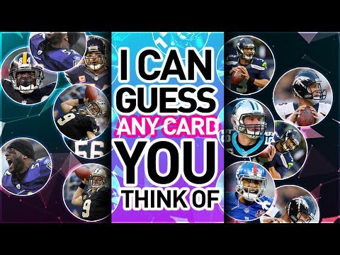 I CAN READ YOUR MIND AND CHOOSE THE MADDEN CARD YOU SELECT. (UNREAL)