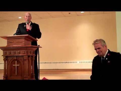 The Salvation Army Cambridge, MA - Majors Carroll Retirement - Charlie Babcock - 4.8.11