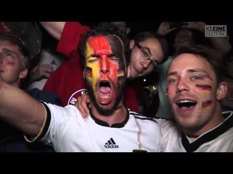 """Deutsche Fans feiern mit """"einem Flascherl Sekt"""""""