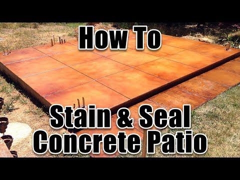 How To Stain and Seal Outdoor Patio