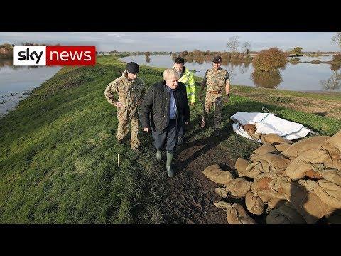 Sky News: Boris Johnson heckled on visit to flood-hit Yorkshire