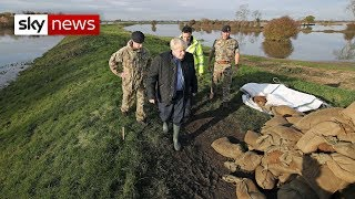 Boris Johnson heckled on visit to flood-hit Yorkshire