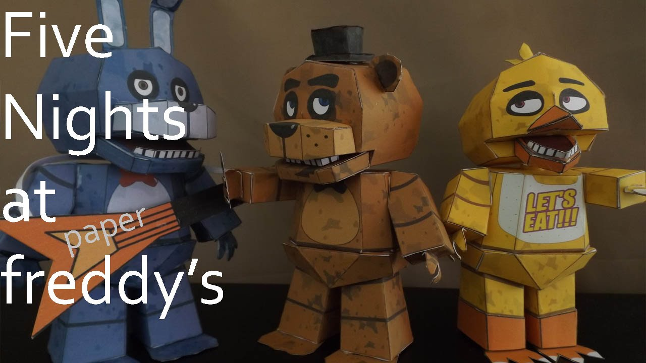 Papercraft Five Nights at Freddy's Trailer (Papercraft Remake)