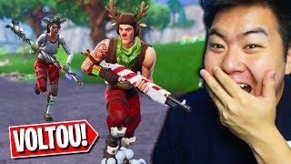 I BOUGHT ALL THE RARE SKINS OF THE REINDEER!! -Fortnite Battle Royale