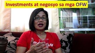 Negosyo at investments sa mga OFW