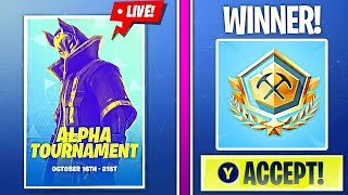 *WINNING* ALPHA TOURNAMENT (PRO PLAYER)! | 🔥 Fortnite Battle Royale Live 🔥