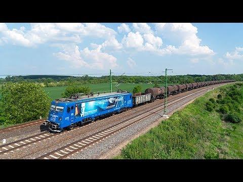 Vonatok a 120-as vonalon Gyoma közelében
