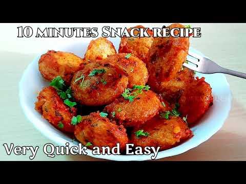 10 minutes Snacks recipe | Easy Snacks recipe | Instant Snack Recipe | Healthy&Tasty Snacks recipe