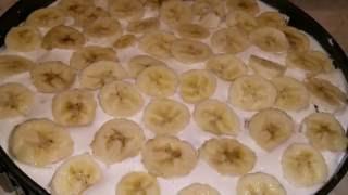 Пряничный торт с бананами