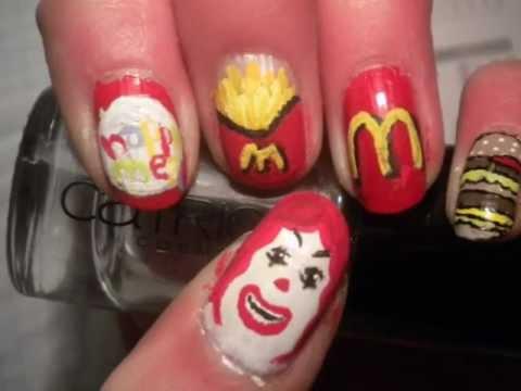 Mcdonalds Nail Art Youtube