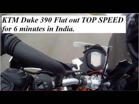 ktm duke 390 top speed 172+ kmph - youtube