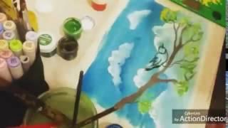 Урок рисования для детей 5-6 лет. гуашь.