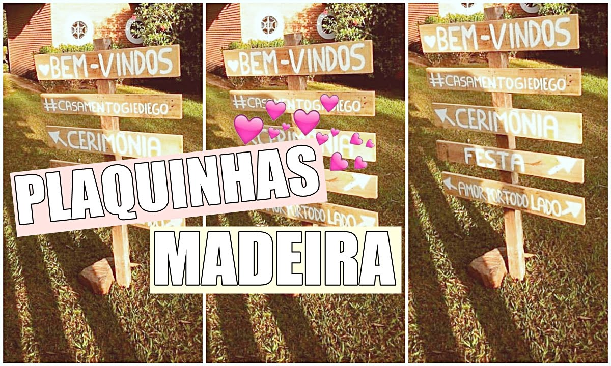 Frase De Casamento Aos Noivos: Plaquinhas De Madeira Para Casamento Rústico ♥ - YouTube