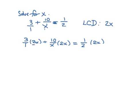 how to solve rational equations with variables in the denominator
