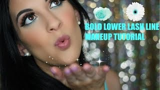Bold Lower Lash Line With A Pop Of Color Makeup Tutorial