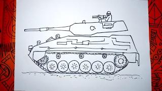 Aprende a dibujar un Tanque TAM paso a paso