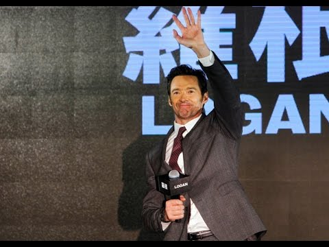 "Hugh Jackman visits Taiwan to promote film ""Logan"" 休傑克曼宣傳《羅根》"