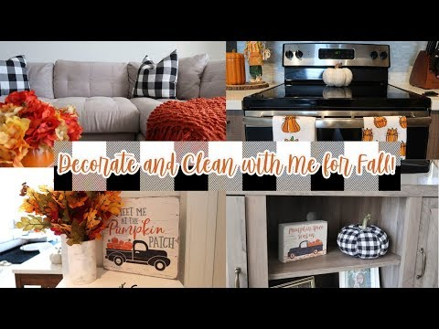 Fall Decorate and Clean with Me 2019 | Small Apartment