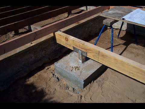 How to Install Crawlspace Support Beam Footings – Construction and Remodeling Tips