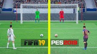 FIFA 19 VS PES 2019 - СРАВНЕНИЕ ПЕНАЛЬТИ
