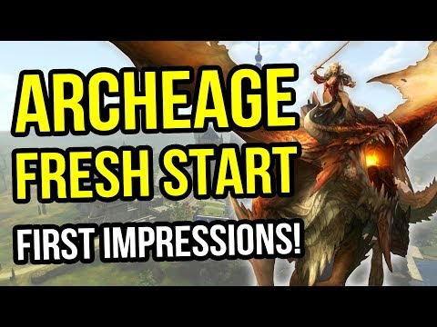 Archeage Fresh Start Server - First Impressions - The Best Free To Play MMORPG Or Another Let Down?