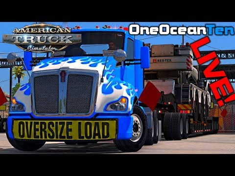 American Truck Simulator #7 SP | Long Road, Heavy Load! [Live Stream Archive]