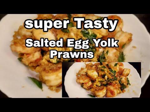 Super Easy Salted Egg Yolk Prawns / Chinese Crispy Shrim Recipe / Singapore Street Food