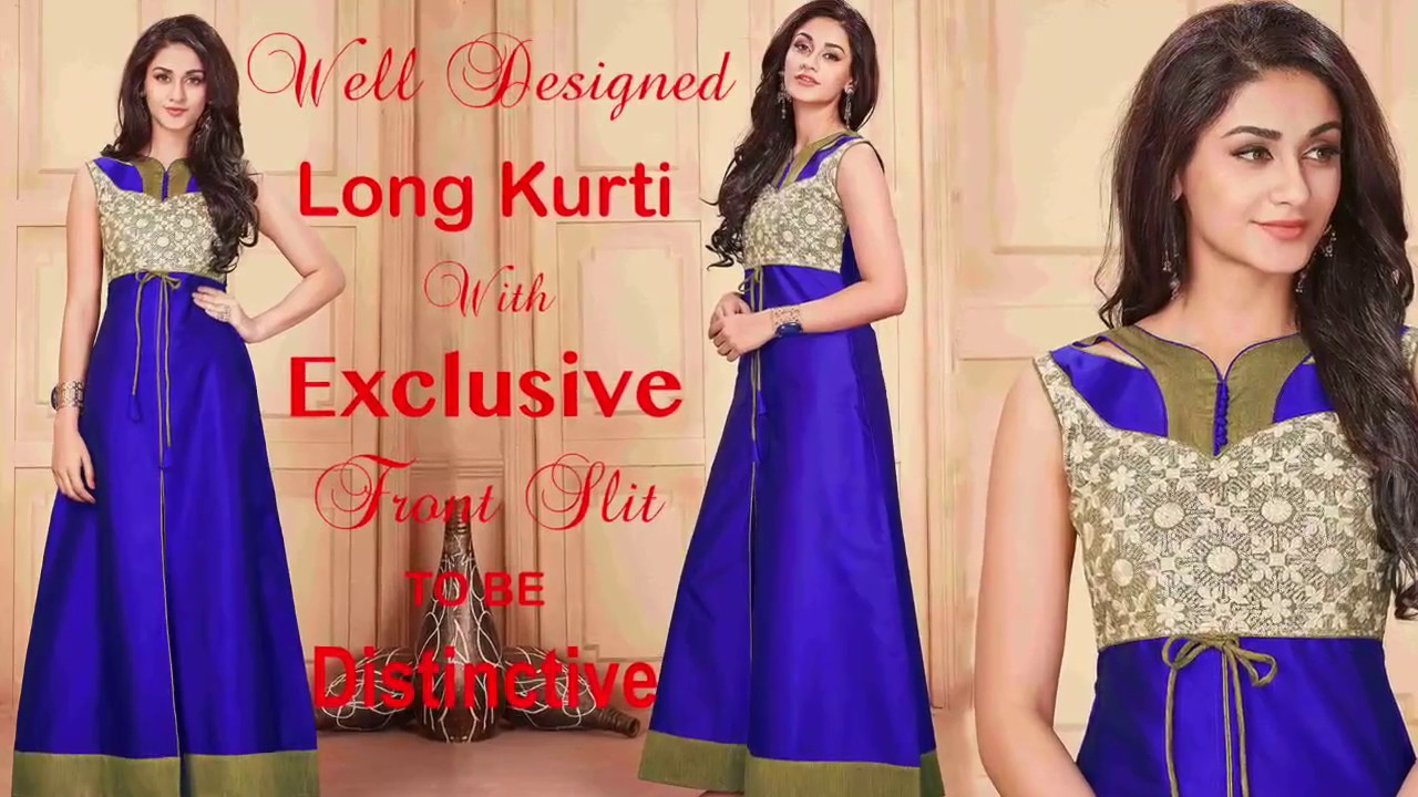 5ec368bc9d Designer Long Kurtis Designs: Party Wear Pakistani Long Kurtis Latest  Patterns | DESIGNERS AND YOU