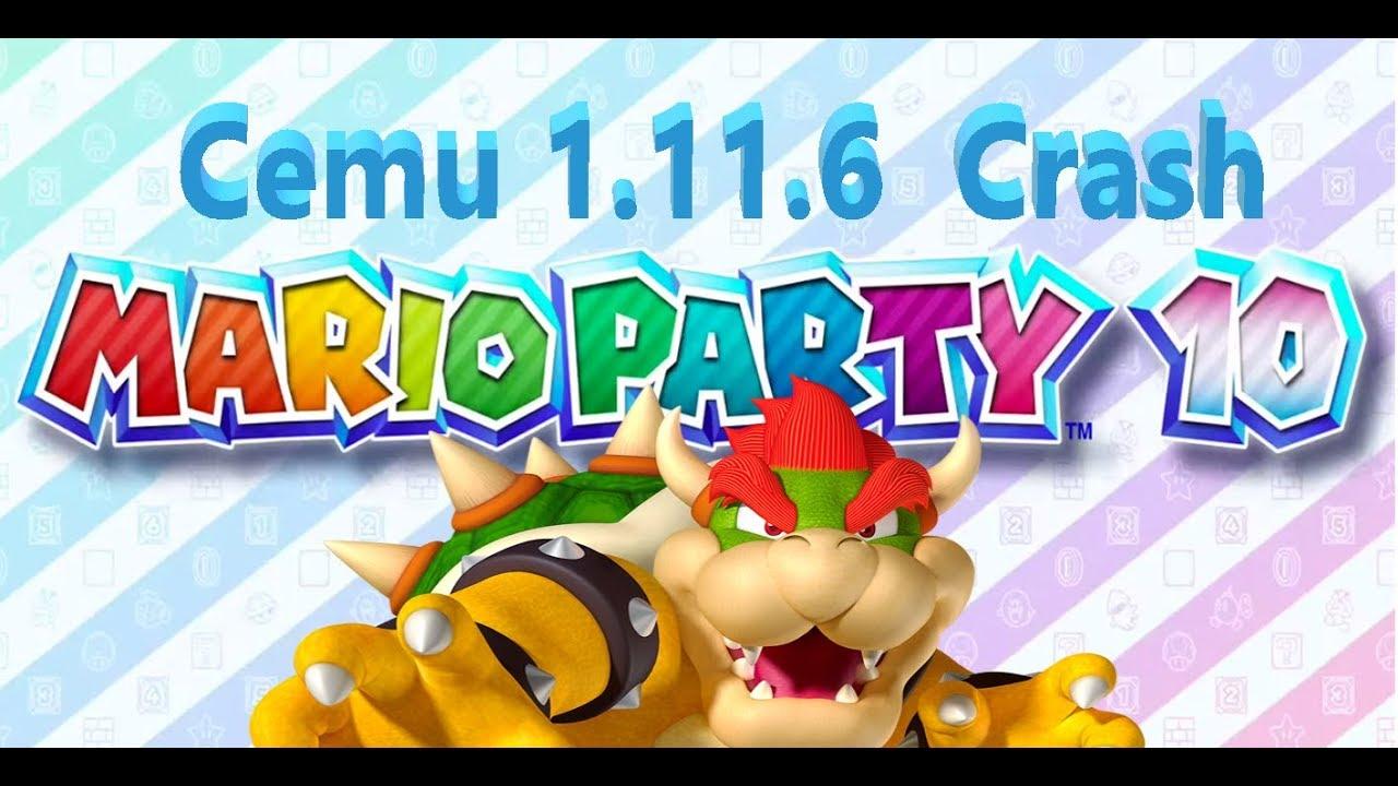 mario party cemu crash