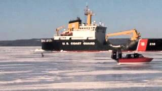 April 3, 2013 The Coast Guard Ice breaker comes to free us from the winter! Woohoo!