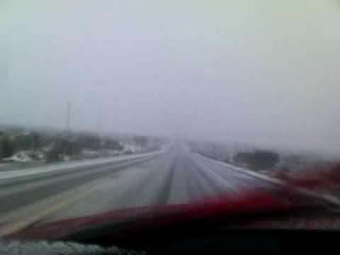 Snow on Highway 138 near Piñon Hills, CA