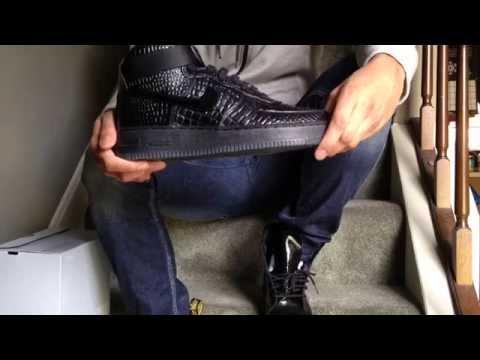 Nike Air Force One Black Croc Hi Review And On Feet Womens Premium