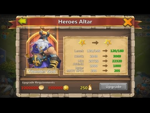 Castle Clash - 7 Star Thunder God (Upgrading TG)